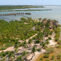 Flamingo Bay Water Lodge Aerial View