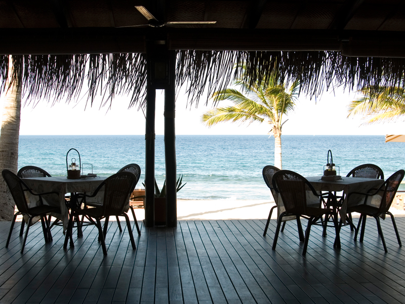 Pemba Beach Hotel Deck Dining