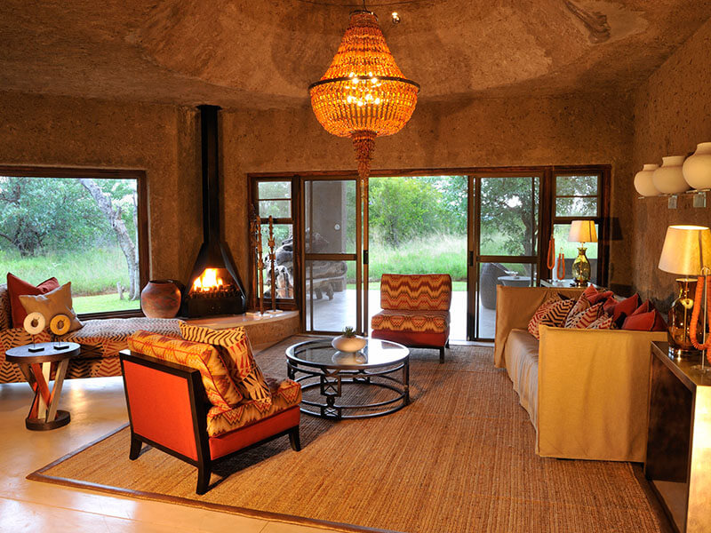 Sabi Sabi Earth Lodge Amber Suite - Lounge
