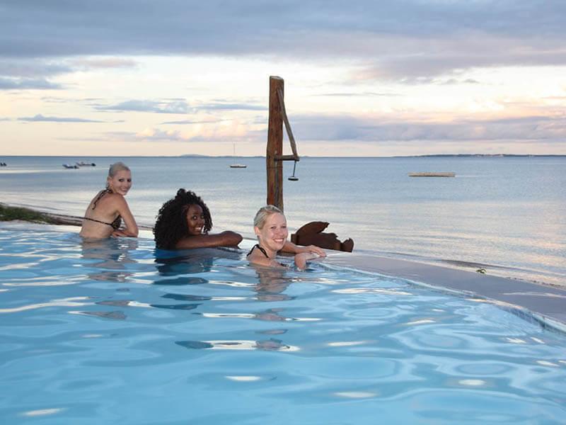 Vila do Paraiso enjoying a swim