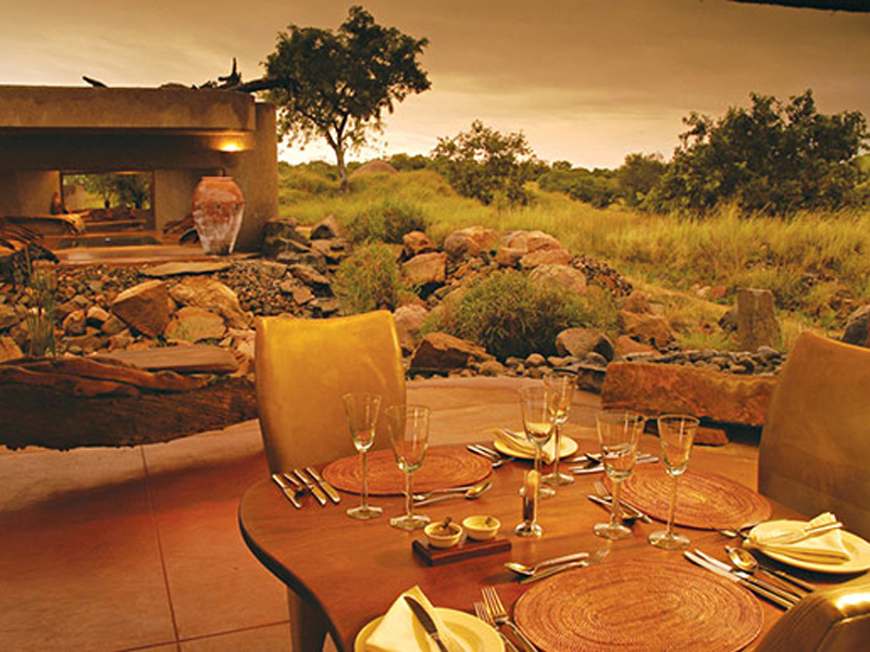 Sabi Sabi Earth Lodge Outdoor Dining