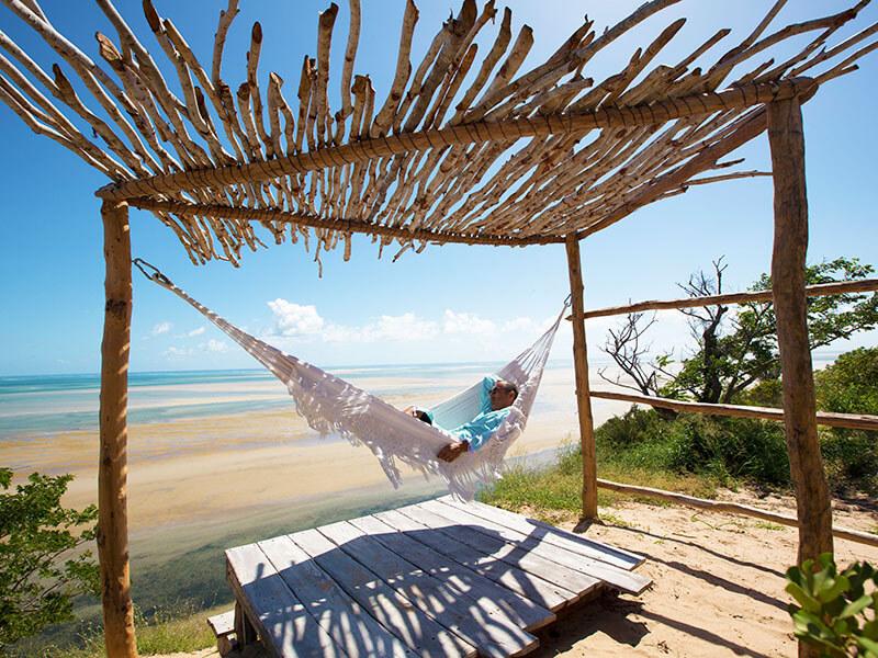 Azulik Lodge relaxing in a hammock
