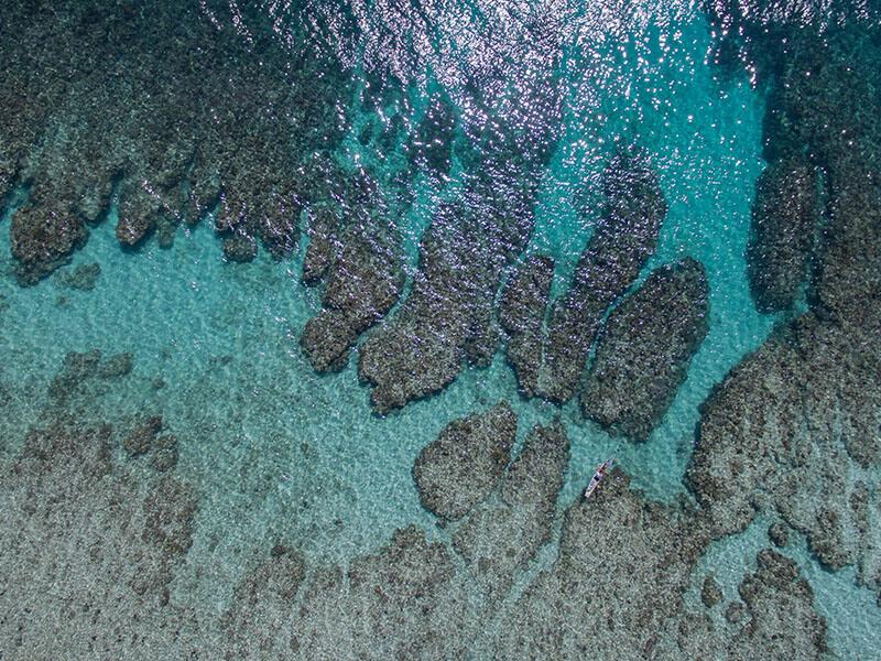 Ossimba Beach Lodge aerial view