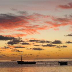 Archipelago Resort dhows at sunset