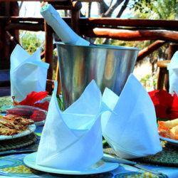 Archipelago Resort seafood and sparkling wine