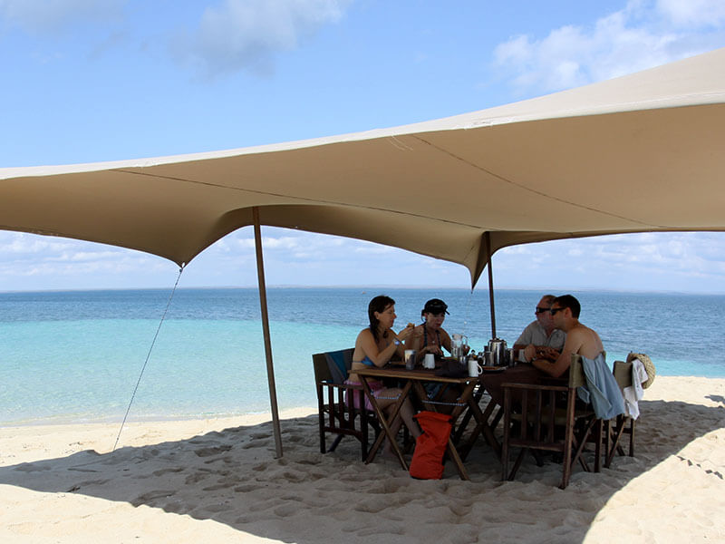 Mobile Island Hopping Sandbank brunch