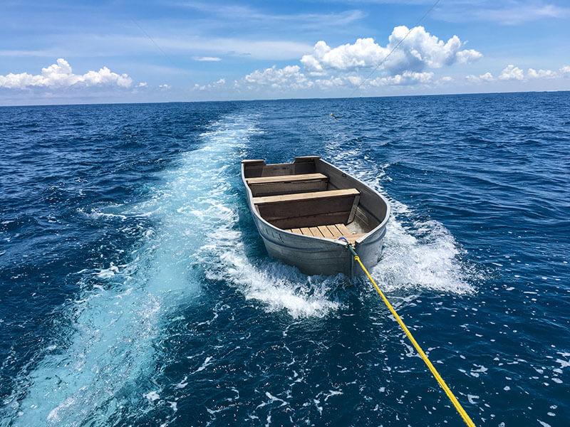 Mobile Island Hopping tender boat