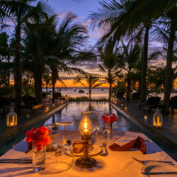 Ibo Island romantic pool side ddinner