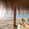 azura benguerra relax at the sala on the beach