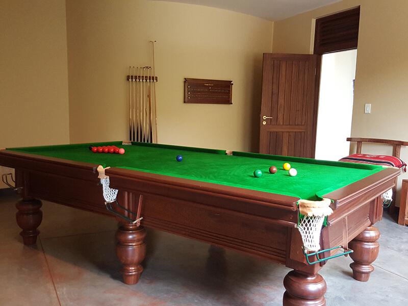 Pooltable at Villa Ukuthula